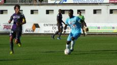 Komlan Amewou en match amical contre Toulouse