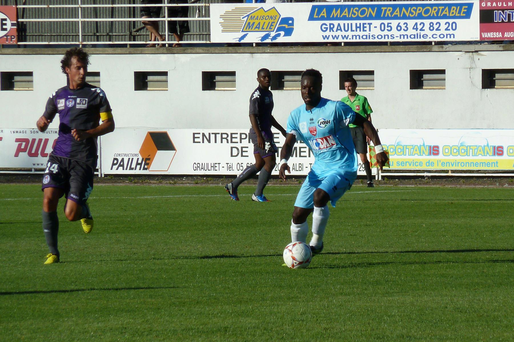 Komlan Amewou en match amical contre Toulouse