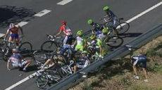 chute sur la Vuelta