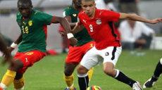 Phase de match entre Egypte et Cameroun