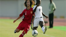 Action de match entre le Ghana et la chine