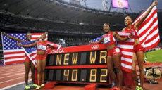 relais 4x100 USA record