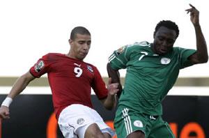 Action de match entre Nigéria et Egypte