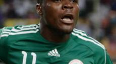 Emmanuel Emenike  of Nigeria celebrates goal  ©Gavin Barker/BackpagePix