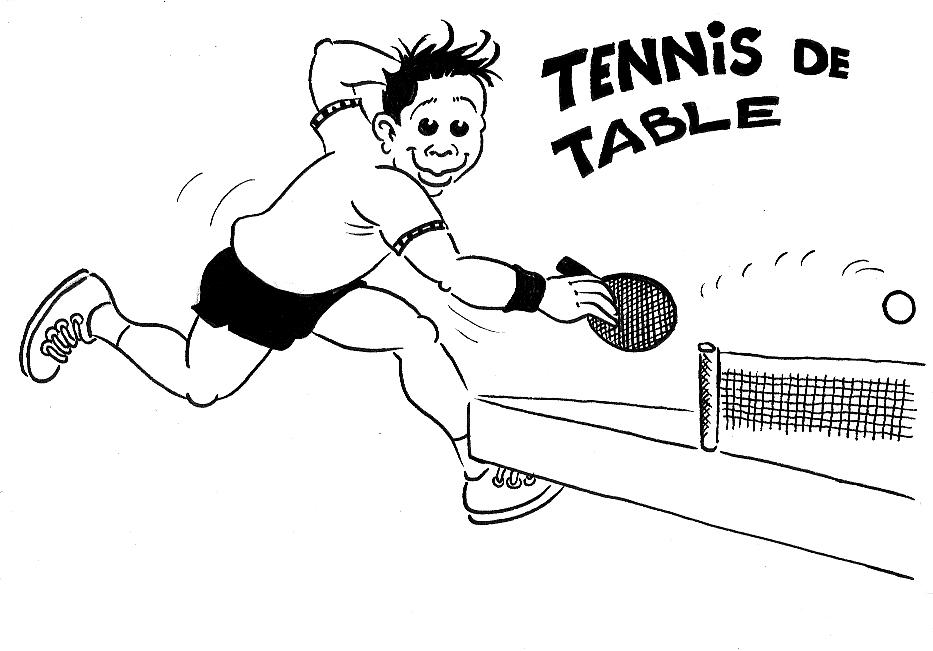 Championnat d afrique de tennis de table record de pays - Dessin tennis de table ...