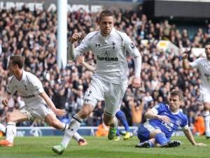 FOOTBALL : Tottenham United vs Everton -  Premier League - 07/04/2013