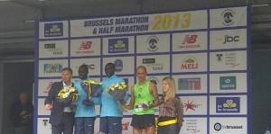 podium marathon de bruxelles2013