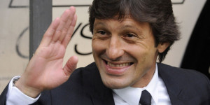 Inter Milan's coach Leonardo smiles before the start of their Italian Serie A soccer match against Lazio in Milan