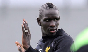Liverpool's Mamadou Sakho during a training session