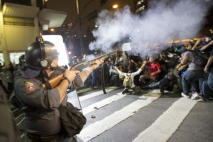 La manifestation contre l'augmentation du prix des transports réprimée à Sao Paulo (crédit photo @Kety Shapazian)