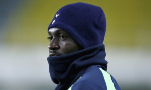 Emmanuel Adebayor comes on from the cold as Tottenham prepare for their Europa League tie.