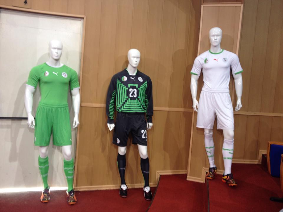 Les maillots de l 39 alg rie la coupe du monde 2014 - Prochaine coupe du monde de football ...