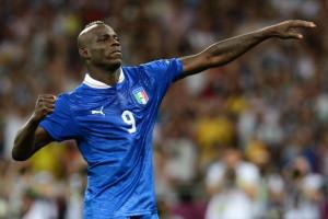 Italian forward Mario Balotelli celebrat