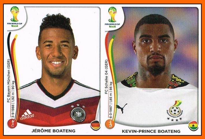 Jérôme BOATENG & Kevin-Prince BOATENG Panini 2014 Germany - Ghana