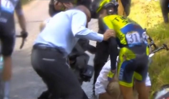 alberto contador_chute 10e etape tour de france 2014