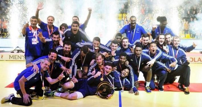 france u18_champion d'europe de hand 2014