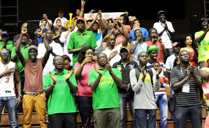 supporters du senegal à la coupe du monde fiba 2014