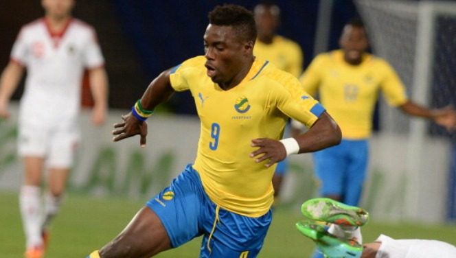 Gabon's Malick Evouna Bruno controls the ball during an international friendly football match against Morocco in Marrakech on March 5, 2014. AFP PHOTO/FADEL SENNA        (Photo credit should read FADEL SENNA/AFP/Getty Images)