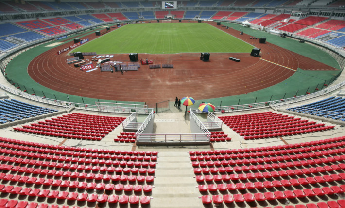 """General view of the Estadio de Bata """"Bata Stadium"""" which will host the opening ceremony for the African Nations Cup, in Bata"""