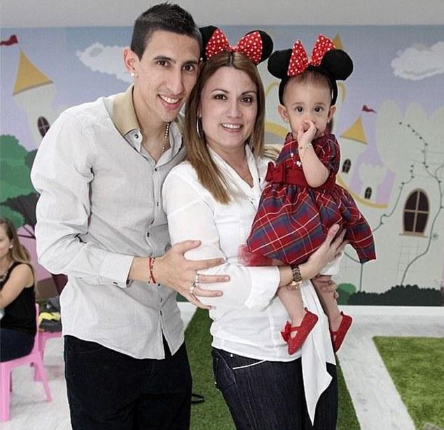 Di Maria et sa famille