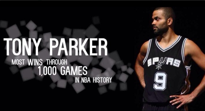 tony parker record de victoires en 1000 matchs