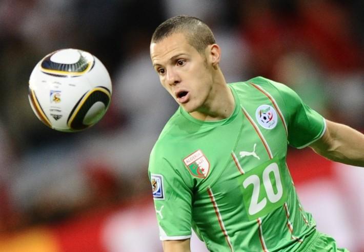 Algeria's defender Djamel Mesbah eyes th