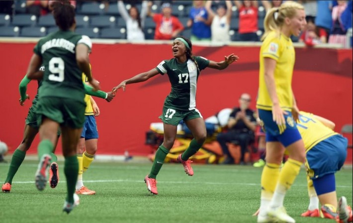 super falcons du nigeria neutralisent la suede coupe du monde canada 2015
