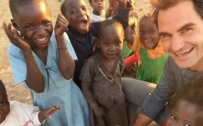 roger federer au malawi
