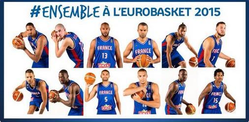 les 12 bleus pour l'eurobasket 2015