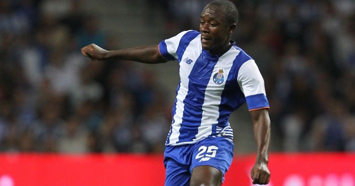 PORTO, PORTUGAL - AUGUST 15:  Porto's midfielder Giannelli Imbula during the match between FC Porto and Vitoria Guimaraes for the Portuguese Primeira Liga at Estadio do Dragao on August 15, 2015 in Porto, Portugal.  (Photo by Carlos Rodrigues/Getty Images)