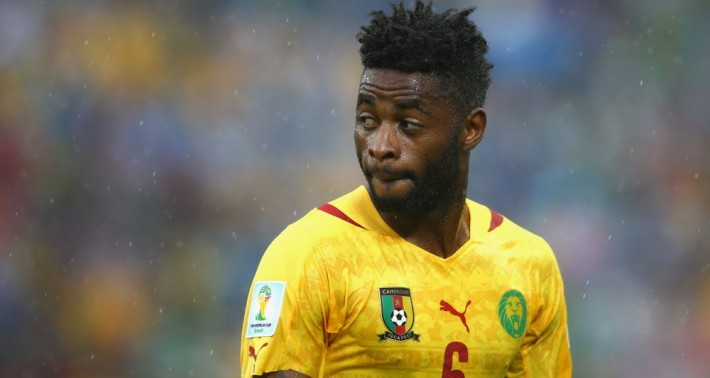 NATAL, BRAZIL - JUNE 13:  Alex Song of Cameroon looks on during the 2014 FIFA World Cup Brazil Group A match between Mexico and Cameroon at Estadio das Dunas on June 13, 2014 in Natal, Brazil.  (Photo by Julian Finney/Getty Images)