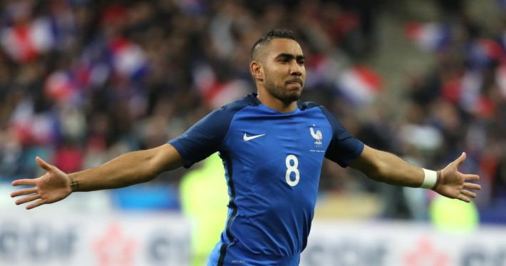 Football Soccer - France v Russia - International Friendly - Stade de France stadium, Saint-Denis, France - 29/03/16. French soccer team player Dimitri Payet reacts .    REUTERS/Charles Platiau - RTSD0YM