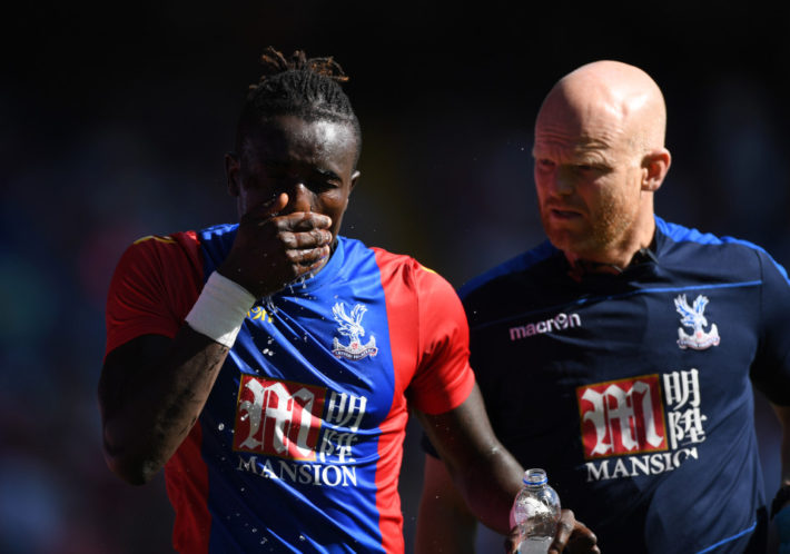 Football Soccer Britain - Crystal Palace v Valencia - Pre Season Friendly - Selhurst Park - 6/8/16 Crystal Palace's Pape Souare sustains an injury Action Images via Reuters / Tony O'Brien Livepic EDITORIAL USE ONLY.
