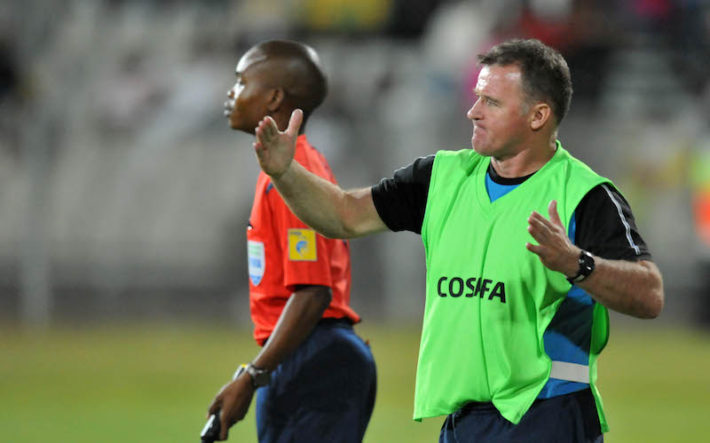 Peter Butler, coach of Botswana during the 2015 Cosafa Cup Quarter Final match between South Africa v Botswana at Moruleng Stadium, Rustenburg on the 25 May 2015  ©Muzi Ntombela/BackpagePix