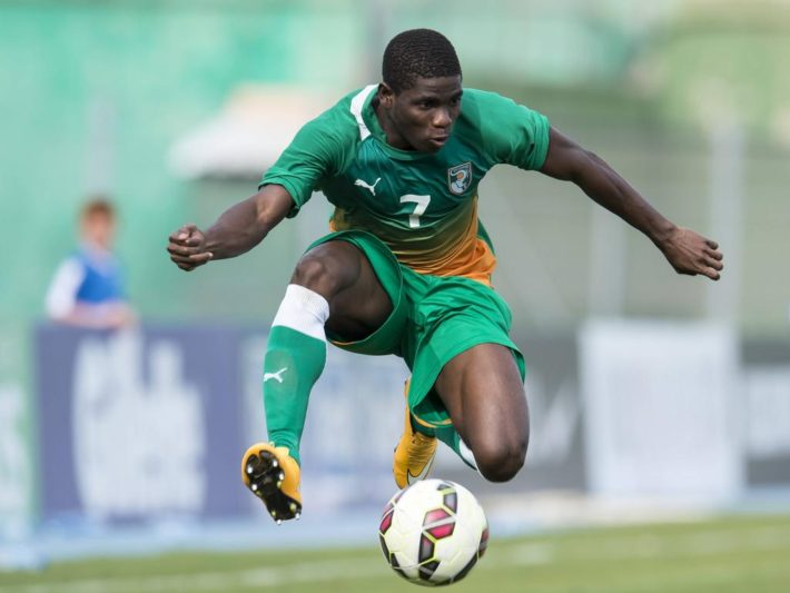Roger Claver Assale of Cote d Ivoire U21 U 21 during the Festival International Espoirs de Football tournament match between Morocco U21 and Cote d Ivoire U21 on June 1, 2015 at Stade Marcel Roustan in Salon de Provence, France. Morocco U21 v Cote d Ivoire U21 Festival International Espoirs 2014/2015 xVIxGerritxvanxKeulenxIVx PUBLICATIONxINxGERxSUIxAUTxHUNxPOLxJPNxONLY 3933157  Roger Claver  of Cote D Ivoire U21 u 21 during The Festival International Espoirs de Football Tournament Match between Morocco U21 and Cote D Ivoire U21 ON June 1 2015 AT Stade Marcel Roustan in Salon de Provence France Morocco U21 v Cote D Ivoire U21 Festival International Espoirs 2014 2015 xVIxGerritxvanxKeulenxIVx PUBLICATIONxINxGERxSUIxAUTxHUNxPOLxJPNxONLY