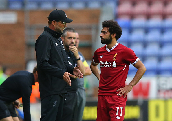 of Wigan Athletic of Liverpool during the pre-season friendly match between Wigan Athletic and Liverpool at DW Stadium on July 14, 2017 in Wigan, England.