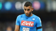 NAPLES, ITALY - AUGUST 27: Faouzi Ghoulam of Napoli in action before the Serie A match between SSC Napoli and AC Milan at Stadio San Paolo on August 27, 2016 in Naples, Italy.  (Photo by Francesco Pecoraro/Getty Images)