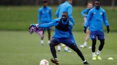 Soccer Football - Europa League - Everton Training - Finch Farm, Liverpool, Britain - November 22, 2017   Everton's Yannick Bolasie during training    Action Images via Reuters/Carl Recine