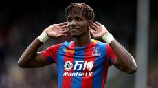 Crystal Palace's Wilfried Zaha puts his hands to his ears during the Premier League match at Selhurst Park, London.
