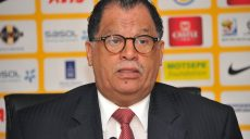 SAFA President Dr Danny Jordan during SAFA Press Conference at SAFA House on the 17 October 2014 ©Samuel Shivambu/BackpagePix