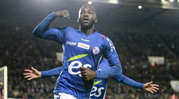 bahoken stephane 19; but FOOTBALL : Strasbourg vs Rennes - Conforama Ligue 1 - 18/11/2017 ElyxandroCegarra/Panoramic PUBLICATIONxNOTxINxFRAxITAxBEL