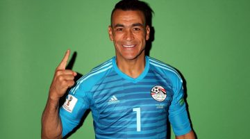 GROZNY, RUSSIA - JUNE 11:  Essam El-Hadary #1 of Egypt poses during the official FIFA World Cup 2018 portrait session at The Local hotel on June 11, 2018 in Grozny, Russia.  (Photo by Jamie Squire - FIFA/FIFA via Getty Images)