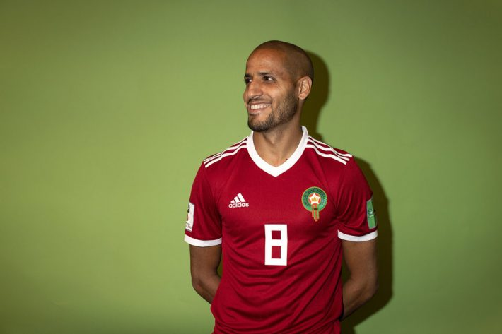 VORONEZH, RUSSIA - JUNE 10:  Karim El Ahmadi of Morocco poses for a portrait during the official FIFA World Cup 2018 portrait session at  on June 10, 2018 in Voronezh, Russia. (Photo by Dan Mullan - FIFA/FIFA via Getty Images)