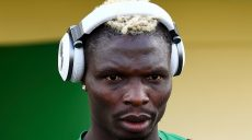Burkina Faso's forward Aristide Bance listens to music prior to a training session in Libreville on January 29, 2017 during the 2017 Africa Cup of Nations football tournament in Gabon.  / AFP / GABRIEL BOUYS        (Photo credit should read GABRIEL BOUYS/AFP/Getty Images)