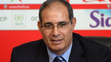 Morocco's Atlas Lions newly appointed coach Badou Zaki holds a press conference on May 2, 2014 in Rabat. AFP PHOTO / FADEL SENNA        (Photo credit should read FADEL SENNA/AFP/Getty Images)