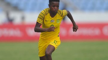 Lebohang Ramalepe of South Africa   during the 2018 TOTAL African Womens Cup of Nations match between South Africa and Nigeria  the 18 November 2018 at Cape Coast Stadium, Ghana   / Pic Sydney Mahlangu/BackpagePix