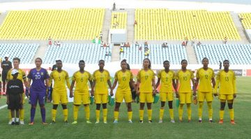 South Africa Women's Team Picture  during the 2018 TOTAL African Womens Cup of Nations match between South Africa and Nigeria  the 18 November 2018 at Cape Coast Stadium, Ghana   / Pic Sydney Mahlangu/BackpagePix