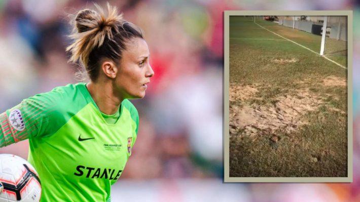 Primera Iberdrola - La gardienne du FC Barcelone, Sandra Paños dénonce l'état d'un terrain de foot